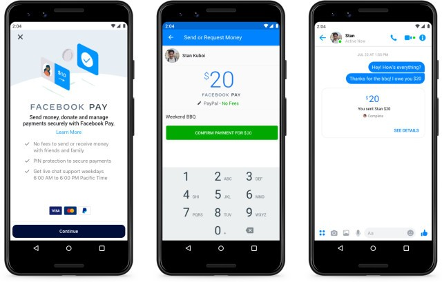 Facebook Pay disponibil in SUA