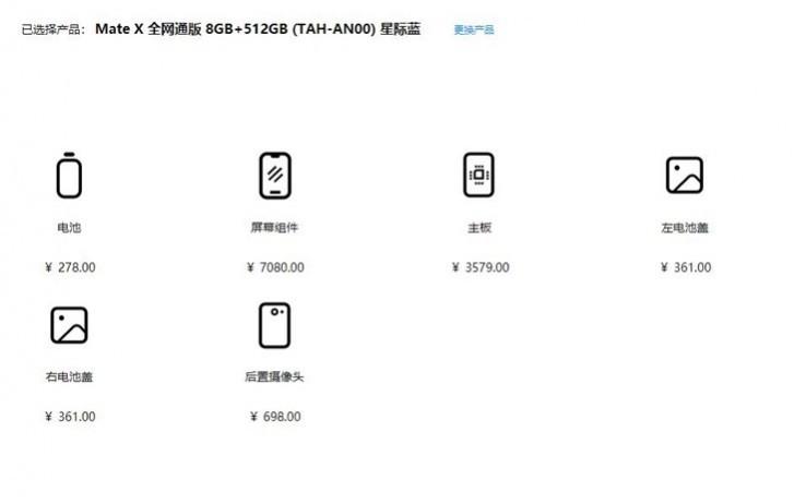 Costurile de reparatie pentru Huawei Mate X sunt foarte mari