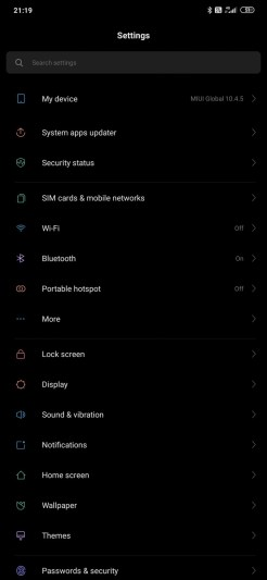 Redmi Note 8PRO setari