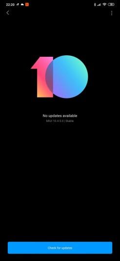 Redmi Note 8PRO software MIUI 10