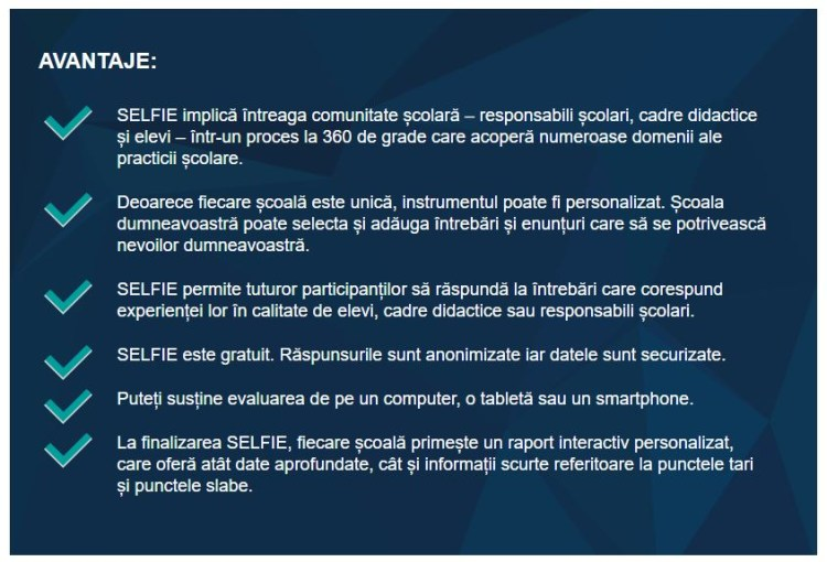 Uniunea Europeana promoveaza SELFIE