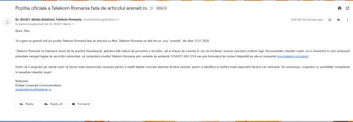 Pozitia oficiala Telekom Romania cu privire la scandalul abonamentelor