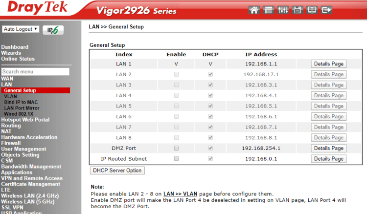 Review Draytek Vigor 2926Lac - router performant cu dual WAN și modem 4G