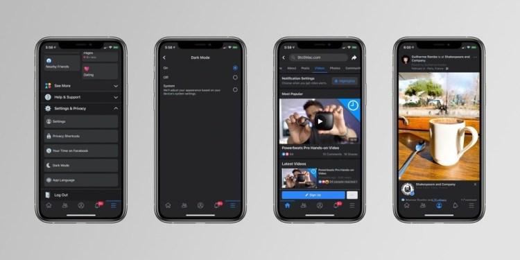 Cam asa va arata Facebook Dark Mode pentru iOS