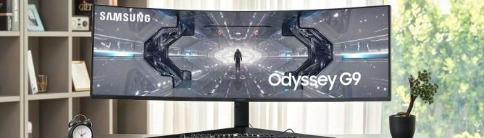 Samsung Odyssey G9 - monitor curbat de 49 inch