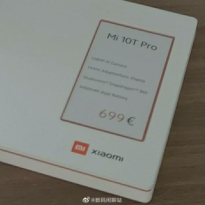 Zvon: Xiaomi Mi 10T Pro ar costa in Europa 700 euro