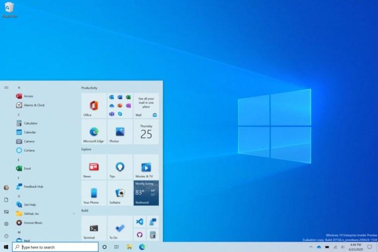 Windows 10 Update Octombrie 2020 - mici schimbari de design