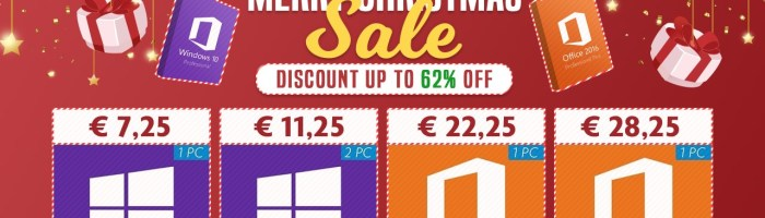 Oferte de Craciun la licentele de Windows si Office