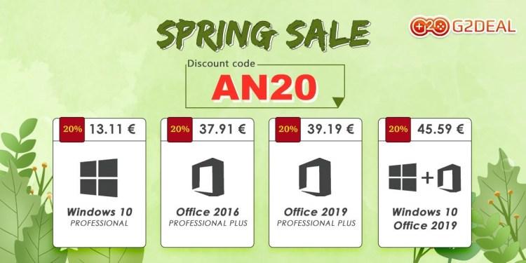 G2Deal are oferte de primavara la licentele de Windows si Office - preturi de la 13 euro
