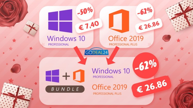 Godeal24 ofera reduceri si pachete promotionale pentru licentele de Windows si Office