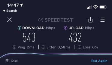 Test Wi-Fi 6 dupa un perete