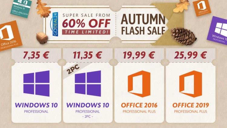 Oferte de toamna - Windows 10 este doar 7 euro