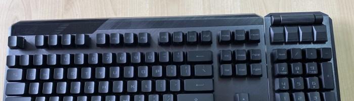 ASUS ROG Claymore II - tastatura de gaming wireless cu switch-uri optice