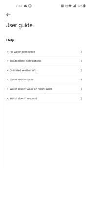 Xiaomi Mi Watch Lite settings