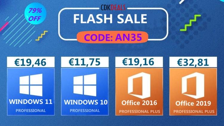 Flash Sale - Windows 10 Pro pe viata pentru un pret mic