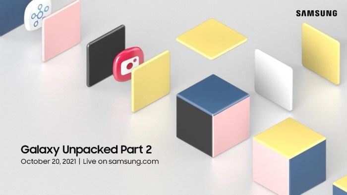Galaxy Unpacked Part 2 va avea loc pe 20 octombrie