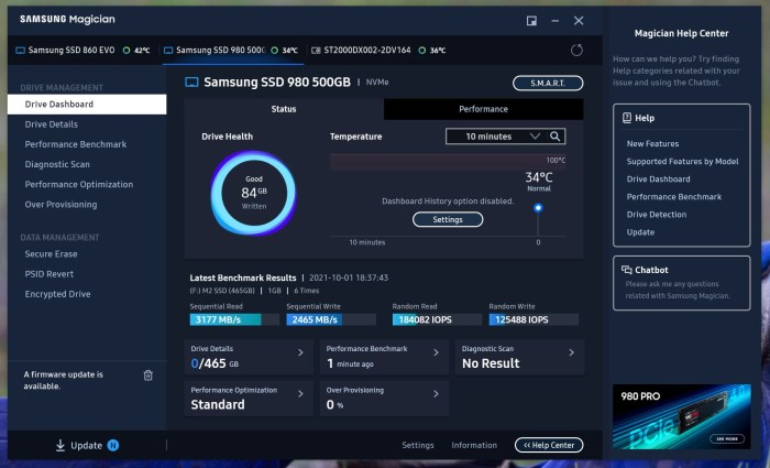 Samsung SSD 980 500 GB review: rapid si accesibil