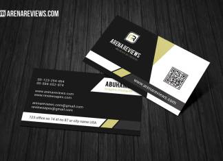 Modern Corporate Black & White Business Card