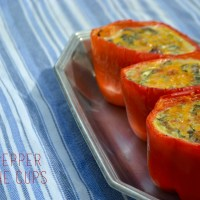 Red Pepper Quiche Cups