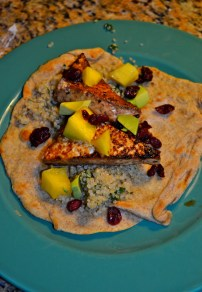 Chipotle Tofu Tacos with Cilantro Quinoa and Mango