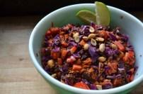 Crunchy Thai Quinoa Salad with Ginger Peanut Dressing