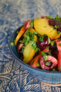 Harvest Peach and Cherry Summer Salad