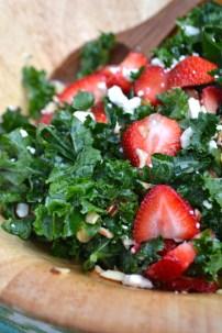 Strawberry Poppy Seed Kale Salad