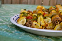 Teriyaki Citrus Vegetable Kabobs
