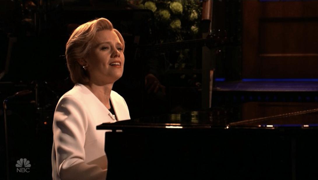Kate McKinnon as Hillary Clinton