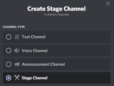 Discord stage channel Clubhouse