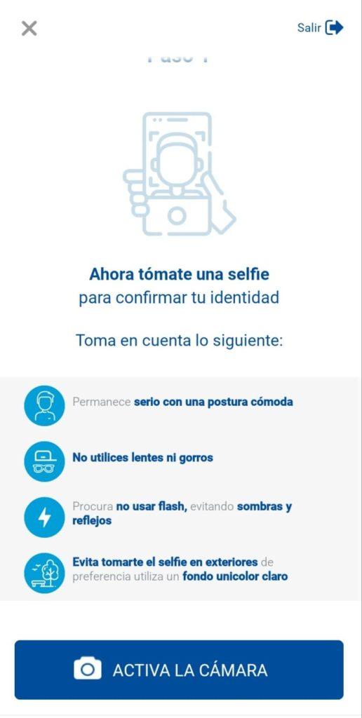 Selfie para Abrir cuenta Mony mercantil Panamá desde Venezuela
