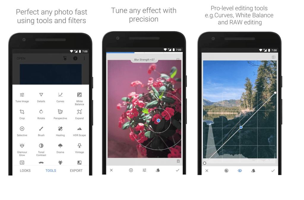 snapseed  mejores aplicaciones para editar fotos