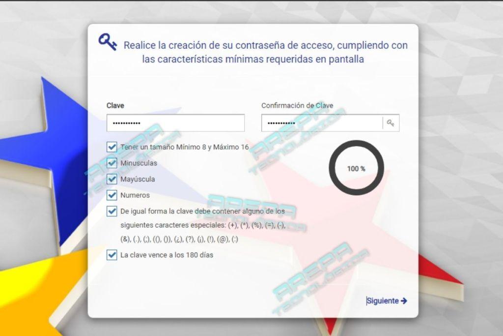 Creación de contraseña para nueva plataforma del banco bicentenario