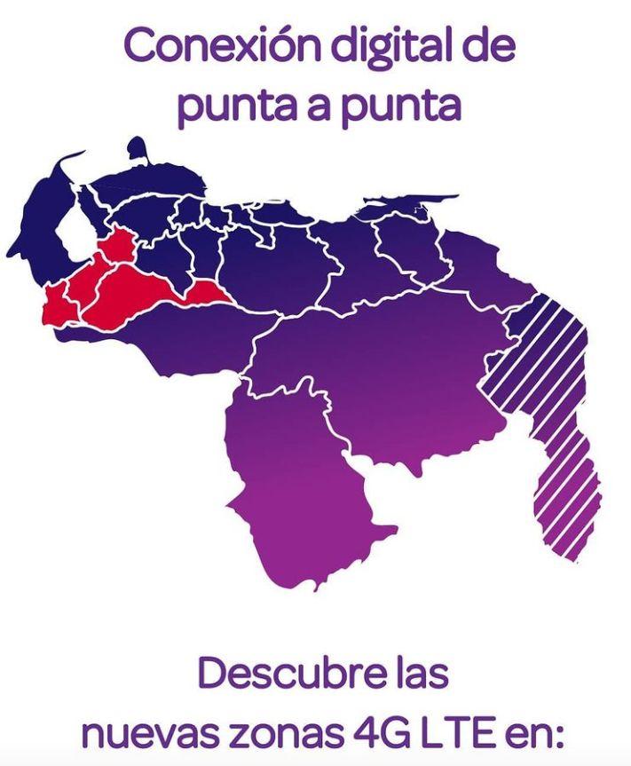 Cobertura 4G LTE Digitel en los Andes Venezuela