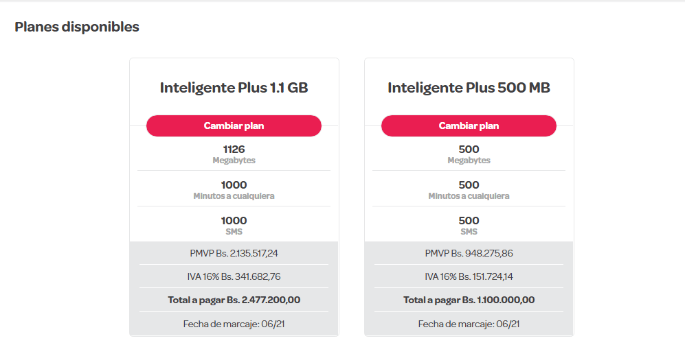 precios planes digitel junio 2021 planes inteligente plus 1.1 GB plan inteligente plus 500 mb