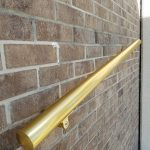 Gold Anodized Aluminum Handrail Stairs Kit From 2 Ft To 15 Ft And 1 97 Diameter Aress Corp Aluminum Building Systems