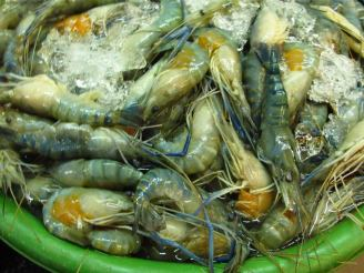 I grew up in a seaside town in a tropical country but this was the first and only time I saw blue prawns