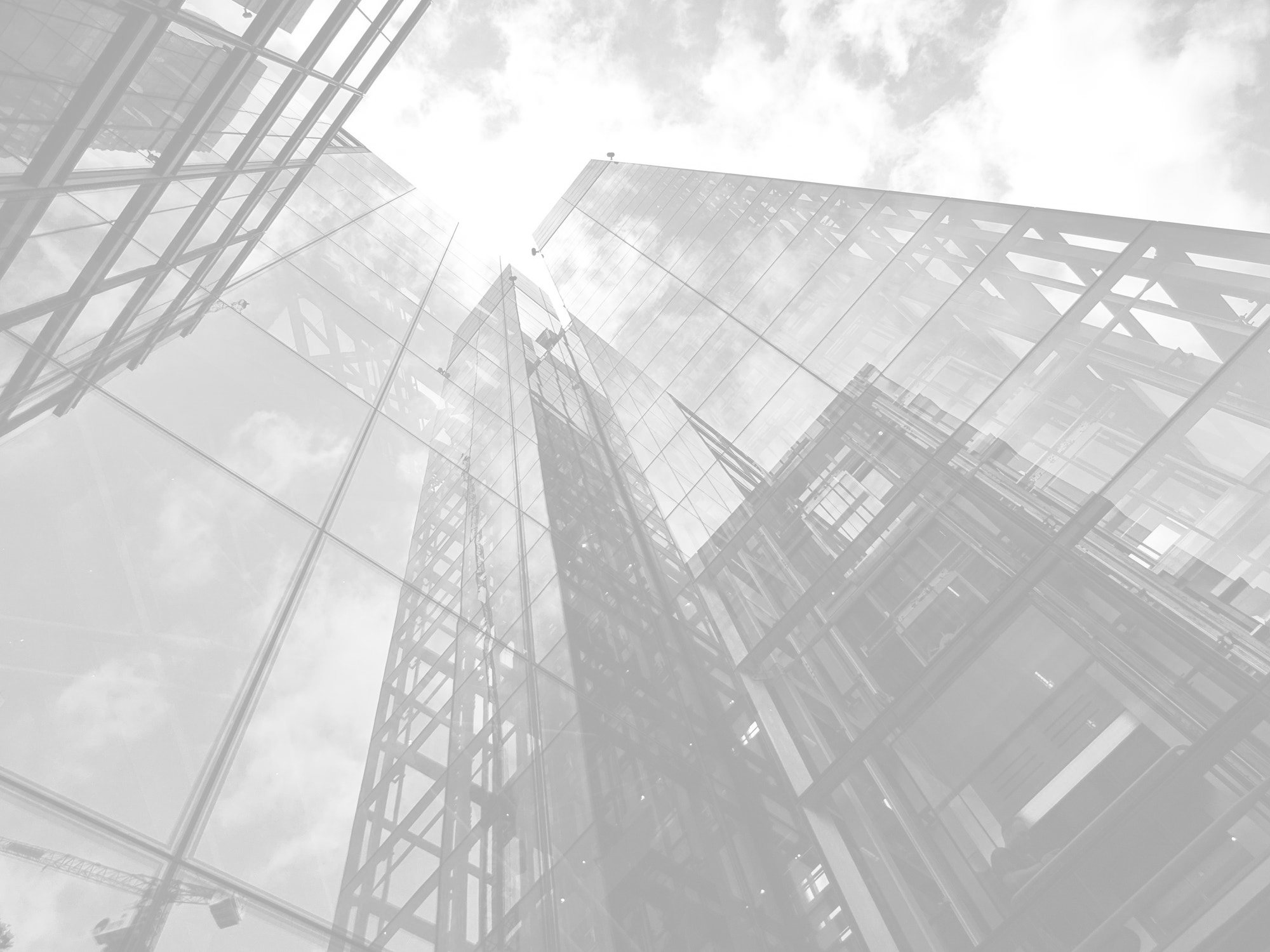 Big city perspective - black & white