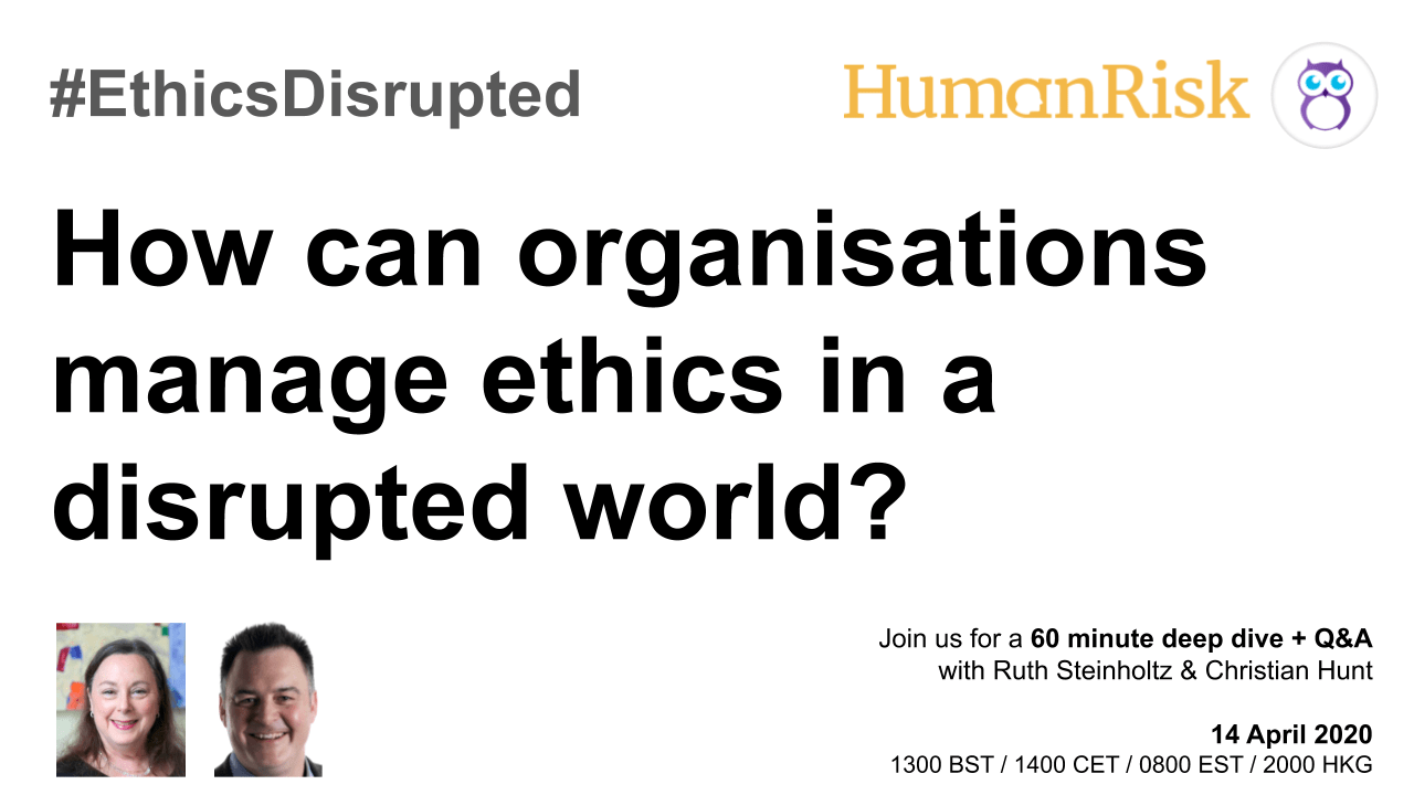 #EthicsDisrupted -14 April