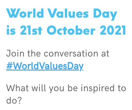 #WorldValuesDay 2021