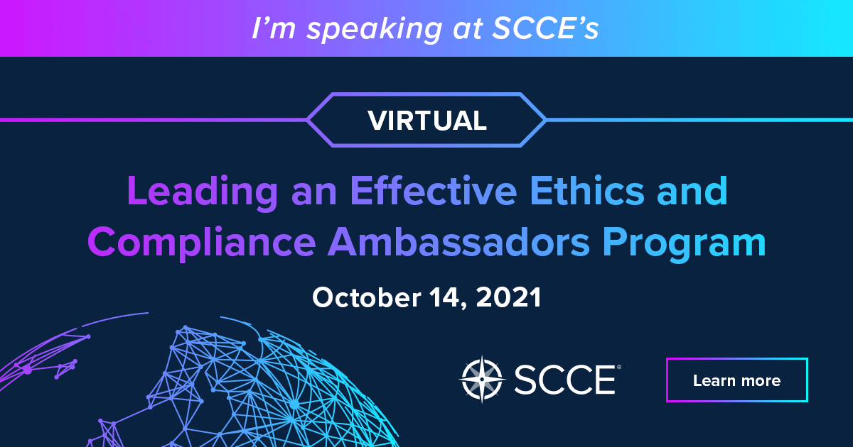 #SCCE Leading and effective ethics & compliance ambassadors program