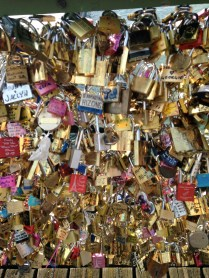 Love lock bridge