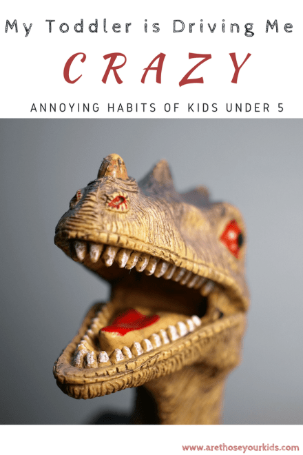 My Toddler is Driving Me Crazy! Annoying Habits of Kids Under 5