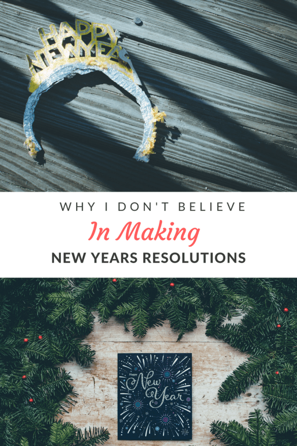 With the new year approaching, many people are making a list of new years resolutions. The sad part is that their goals never come to fruition. Here's how I combat the new years eve dilhemma.