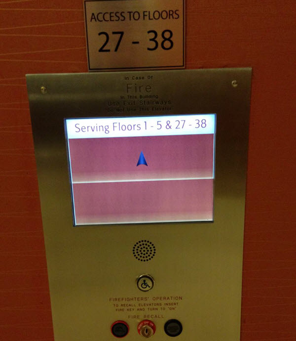 Mysterious elevator touchscreen controller