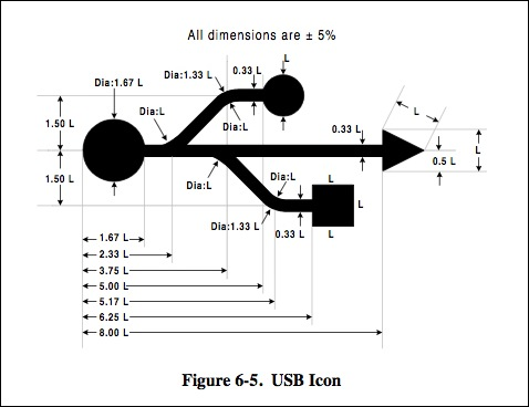 USB icon schematic