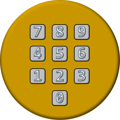 Telephone dialpad