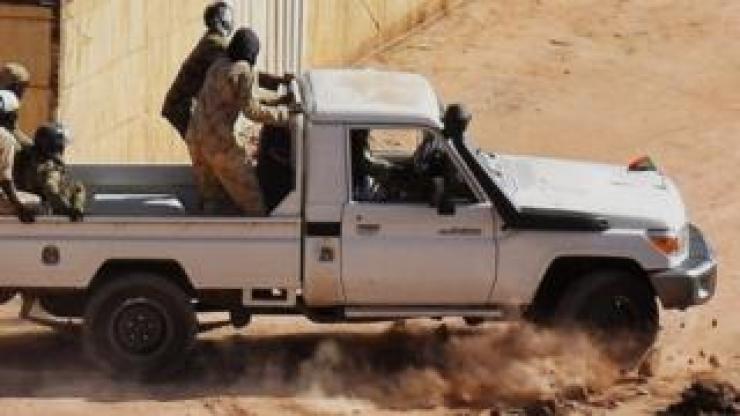Men in a pickup truck