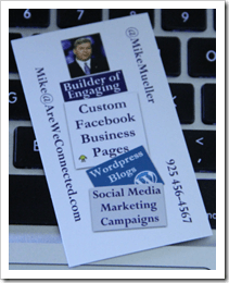 My Biz Cards used to match my Page