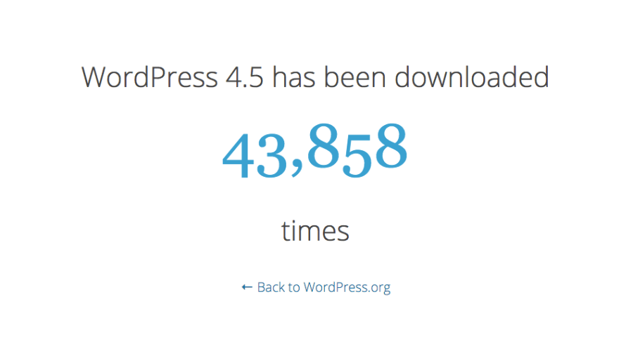 WordPress 4.5 just launched!